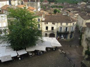View of the town of Saint Emilion from the Bell Tower