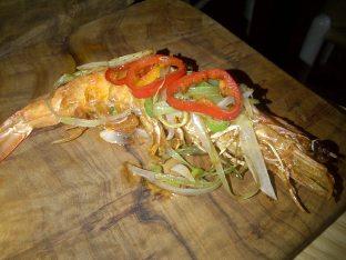 Dry braised salt and pepper tiger prawn
