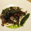 Black summer truffle, wild mushroom ragu, celeriac, sage oil