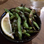 You absolutely MUST order these to start with - Flamed Edamame with Sake, Lemon, Butter and Maldon Salt