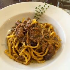 Il GIRASOLE: Wild boar ragu pasta