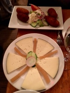 Spanish Manchego Cheese with Quince & Croquetas de Pollo