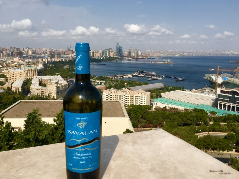 The view of the Bay of Baku and the Boulevard