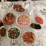 Just a small selection of starters (!!) at a typical Azerbaijani dinnerparty