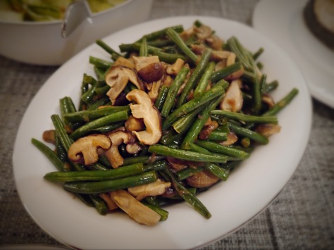 Stir-fried Green Beans with Shiitake Mushrooms