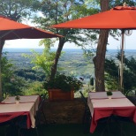 Tiny little restaurant with views to die for, Castagnetto Carducci