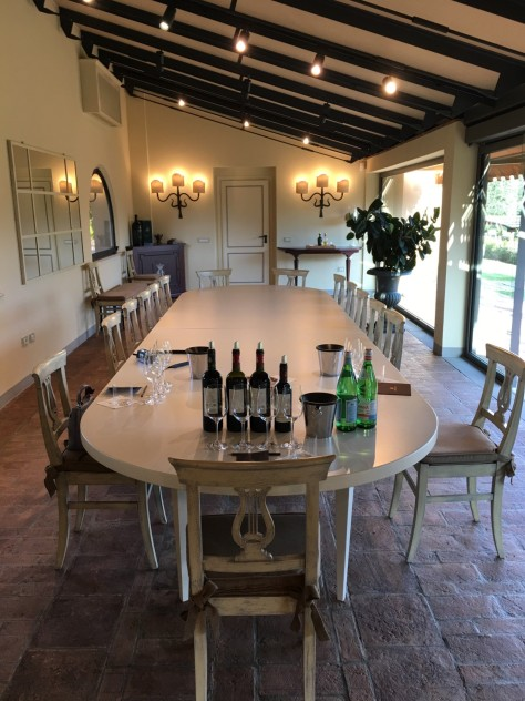Tasting room Ornellaia