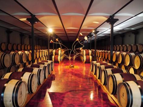 Ornellaia wine cellar