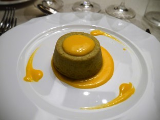 Zucchini Flan & Saffron Sauce