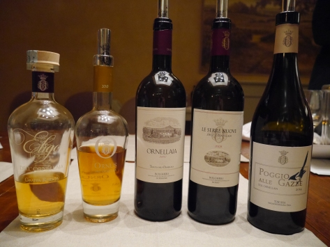 Wines and grappa of Ornellaia