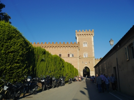 The gate to the town of Bolgheri through the Bolgheri Castle