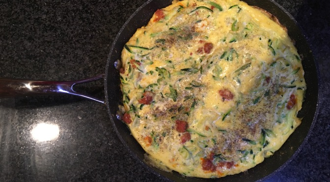 SweervyWine Cooks: Delicious & Easy Courgette, Chorizo & Parmigiano Frittata