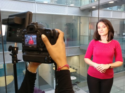 Sweervywine Filming at Foodiez TV studio in Chiswick