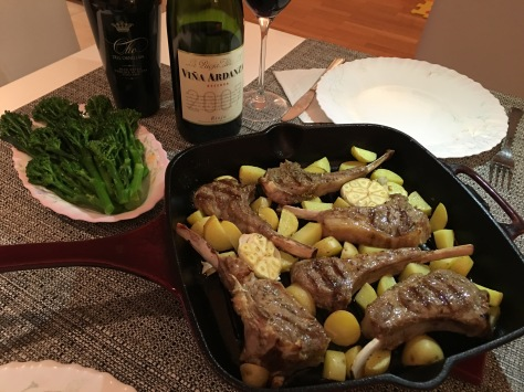 Lamb Cutlets with Roast Potatoes & Tenderstem Broccoli